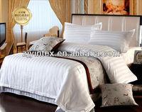Hotel Polyester/Cotton Stripe Duvet cover, Flat sheet