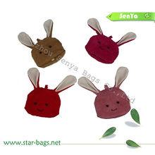 Velvet rabbit foldable Shopping bag