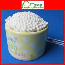 200 pz scatola di carta plastica bastone tamponi di cotone
