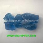 decorative blue large glass rock