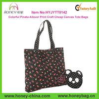 Colorful Pinata Allover Print Craft Cheap Canvas Wholesale Tote Bags