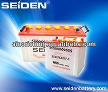 Starting Dry Charged Car battery auto battery N50 12v 50AH