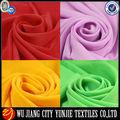100% polyester de couleur arc en mousseline de soie tissu/jaune en mousseline de soie tissu