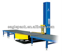 CE Certificate High Efficiency Electric Convey Belt Plastic Film Pallet Stretch Wrapper in Packing Line
