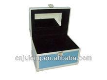 2013 Light blue metal makeup case for wholesale