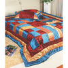 Satin Quilt with Crafted Patch Work