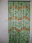 Plastic Artificial Fruit And Flower Fabric Bamboo Curtain