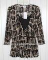 La mitad ladies`polyester steeve kf4980 blusa
