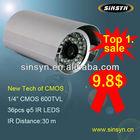 (SS-6007) on special offer OEM metal case outdoor and in door CMOS 600TVL IR waterproof video surveillance cctv camera