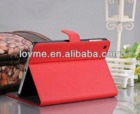 new hot pu leather with stand case for ipad mini