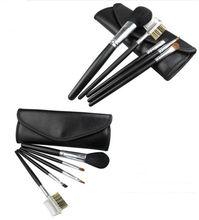 5 pcs makeup brush set black cosmetic tool kits facial beauty tools