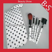 Convenience 5pcs mini makeup brush set, beauty cosmetic brush,with mirror