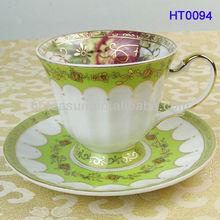 Four season printing tea or coffee cup saucer sets HT0094