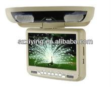 9 inch car flip down dvd player with IR earphones 2013