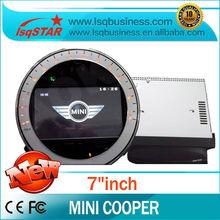 New mini cooper car dvd with gps navigation radio bluetooth steering wheel usb sd slot...best selling!