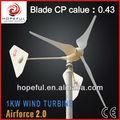 1kw vento família gerador de energia ( on - grade )
