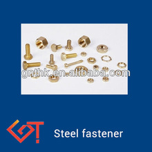 stainless steel nut and bolt metallic black