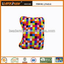 Polyester/spandex+Plush Printed fabric plush bone shaped cushion/soft plush car cushion/rotating car cushion