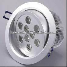 2012 zhongshan laixiang lighting Hot sale 9w high power 12v adjustable led downlight led bathroom mirror light