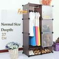 Plástico de color marrón de enclavamiento del organizador del almacenaje con una suspensión de ropa ( FH-AL0523-3 )