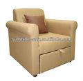 Hot vender único sofá cama de couro sofá-cama futon