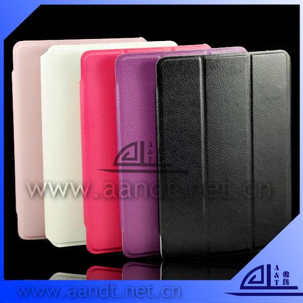 2013 new stylish flip leather pu case for ipad mini
