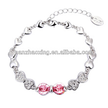 OUXI bracelet charms with Austrian Crystal