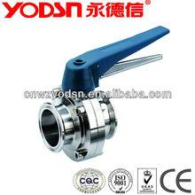 Stainless Steel Sanitary long stem butterfly valve