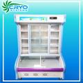 suspensão de carne e congeladosdefrutosdomar porta de vidro geladeira mostrar refrigerador e freezer armário vitrine de equipamentos