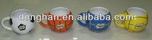 Ball design ceramic mug