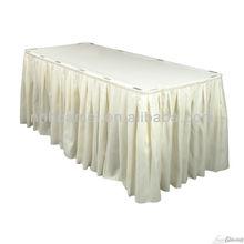 100% polyester table skirt for wedding