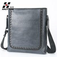 italian style full grain leather men's shoulder bags