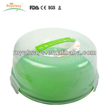 clear reusable plastic box with lock for cakes