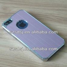 Deluxe oem brushed aluminum frame metal case for iphone5 apple logo case