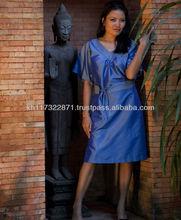 Natural silk evening dress