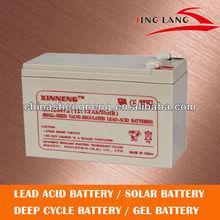 long shelf life security battery 12V 7AH