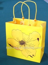 China manufacturer & luxury kraft paper bags with paper handle yellow shopping bags