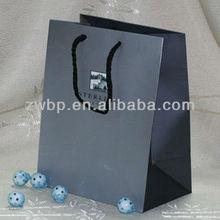 Cotton Ribbon Handle Paper Shopping Bag