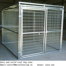 5'x10'x6' big dog cage clamp connector dog kennels solid roof dog runs