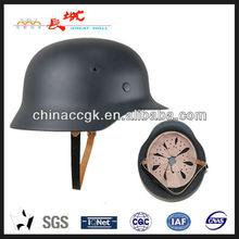 anti-riot steel helmet of German M35 style in grey