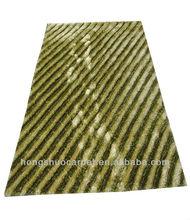 3D vision Plain hand made shaggy rugs