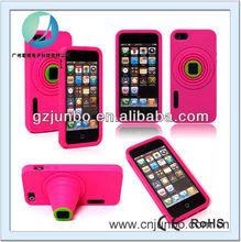 fashion design camera silicon case for iPhone 5s