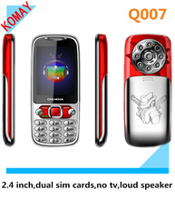 KOMAY low price bar dual sim phone mobile Q007