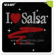 Salsa dance dresses bling rhinestone garment accessory for garment