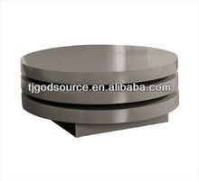 Triplo round gloss swivel coffee table stone