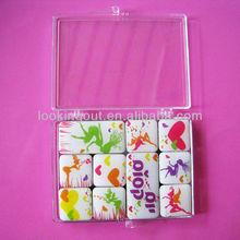 plastic box packing one set epoxy refrigerator magnet