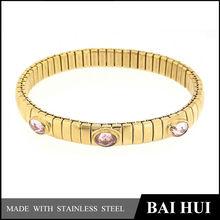 Fashion 2014 Women Stainless Steel Stretch Elastic Nomination Bracelet