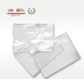 plástico transparente de pvc com zíper do saco