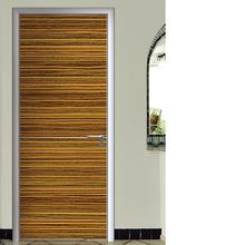 Porta de madeira teca design, novo design da porta de madeira para quarto, frame de alumínio da porta