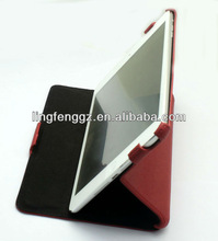 good quality red wine heat setting standing tablet case cover for 7.9inch ipad mini